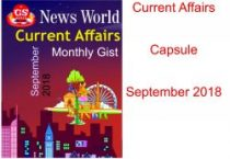 September Month World Current Affairs Book PDF 2018